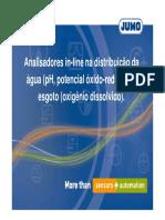 03 Digitrol Analisadores in Line Na Distribuicao Da Agua Ph Potencial Oxido Reducao e Esgoto Oxigenio Dissolvido