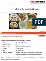 W&S Report on Snacking Habits of the Youth in Vietnam 2012