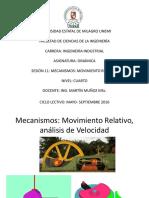Sesión 11 Mecanismos, Movimiento Relativo Velocidad - Copia(1)