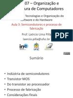 Aula 03 - Semicondutores e Processo de Fabricação