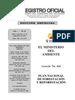 Plan Nacional de Forestacion y Reforestacion