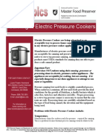 Electric Pressure Cookers and Canning Times Font