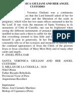 Santa Verónica Giuliani and Her Angel Custodio