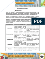 Actividad de Aprendizaje 2 Valores Organizacionales