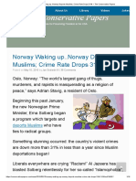 Norway Waking Up..Norway Deports Muslims; Crime Rate Drops 31% – the Conservative Papers