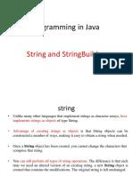 String and StringBuilder