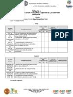 Ejemplo de listas de verificación para auditorias ambientales en Materia de Aire y Ruido