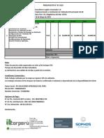 Cotización Cableado Estructurado - Clasa Perú