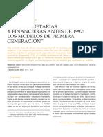 Crisis monetarias y financieras antes de 1992
