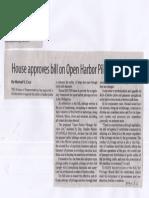 Manila Standard, June 26, 2019, House approves bill on Open Harbor Pilotage Service.pdf