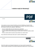 Is Your Website Ready for Marketing