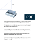 Kelebihan dan kekurangan jenis printer