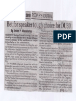 Peoples Journal, June 26, 2019, Bet for speaker tough choice for DU30.pdf