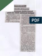 Police Files, June 26, 2019, Congressmen doble kayod para sa 2020 national budget.pdf