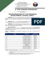 (1) Barangay Development Council (BDC)