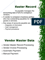 AutoPay Vendor Data Presentation