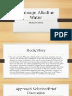 Drainage Alkaline Water