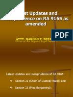 Salient Provisions & Jurisprudence on RA 9165