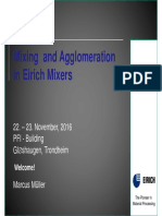 Mixing and Agglomeration in Eirich Mixers