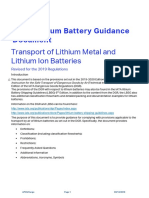 Lithium Battery Shipping Guidelines