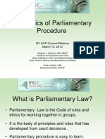The Basics of Parliamentary Procedure 4_12 Edited