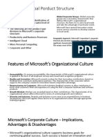 Microsoft Global Porduct Structure