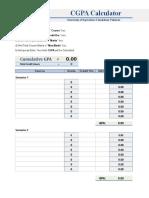 UAF CGPA Calculator