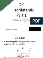 G 9 QuadrilateralsNotes