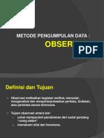 Uma Sekaran - Metode Pengumpulan Data Observasi