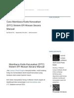 Cara Membaca Kode Kerusakan (DTC) Sistem EFI Nissan Secara Manual - Montirpro.com