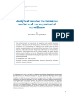 Analytical Tools Insurance Market Macro Prudential Surveillance