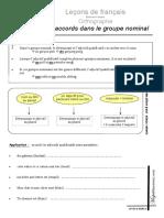 Lecons d Orthographe Les Accords Dans Le Groupe Nominal