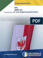 Freiheitliches Positionspapier zu Autonomie Und Eigenstaatlichkeit