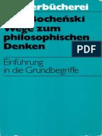 Wege zum philosophischen Denken (J. M. Bocheński)