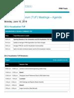 Hexagon Live Vegas 2019 TUF Agenda