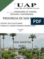 Carrera Profesional de Turismo, Hoteleria y Gastronomia