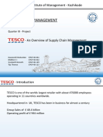 Study of TESCO Supply Chain