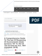 A Comprehensive Guide to the Law of Reopening of Assessments Under Sections 147 to 153 of the Income-tax Act, 1961 (Updated_ 2018) _ Articles