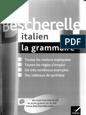 Bescherelle Italien La Grammaire Pdf Nom Grammaire Accent Tonique