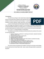 2018 Accomplishment Report of San Isidro NHS
