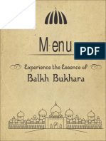 Balkh Bukhara Menu