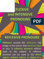 reflesive and intensive pronouns