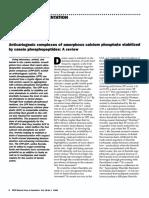Review - Anticariogenic Complexes of Amorphous Calcium Phosphate Stabilized