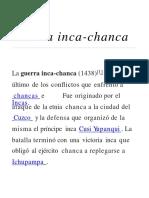 Guerra Inca Chanca