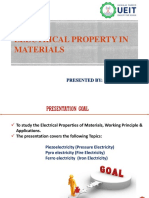Electrical Property in Materials