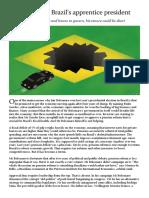 The Economist - Jair Bolsonaro