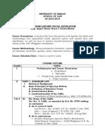 School of Law - Agrarian Law and Social Legislation