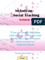 Pre Vatican Social Teaching