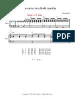 Quiero Cantar Una Linda Canción Shaylee - Partitura Completa