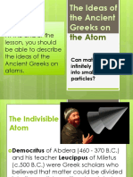 The Ideas of the Ancient Greeks on the Atoms